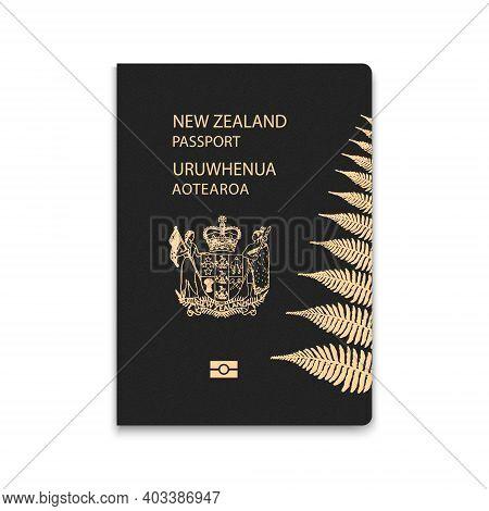 Passport Of New Zealand. Citizen Id Template. Vector Illustration