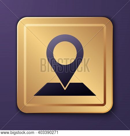 Purple Map Pin Icon Isolated On Purple Background. Navigation, Pointer, Location, Map, Gps, Directio