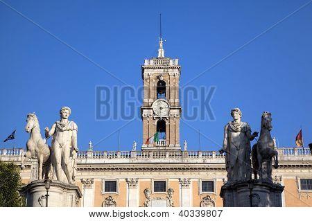 Palazzo Senatorio at Capitoline Hill. Roma (Rome), Italy