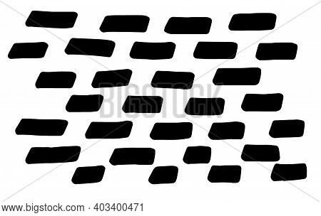 Background Of Abstract Vector Drawn Marker Strokes, Lines. Monochrome Elements Texture Of Marker Sho