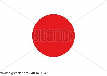 The National Flag Of The Country Is Japan. Japanese Flag. Japanese State Symbol. Parliamentary Const