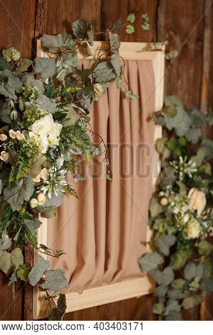 Light And Bright Rural Interior With Spring Flowers. Scandinavian Style, Spring Still Life. Beautifu