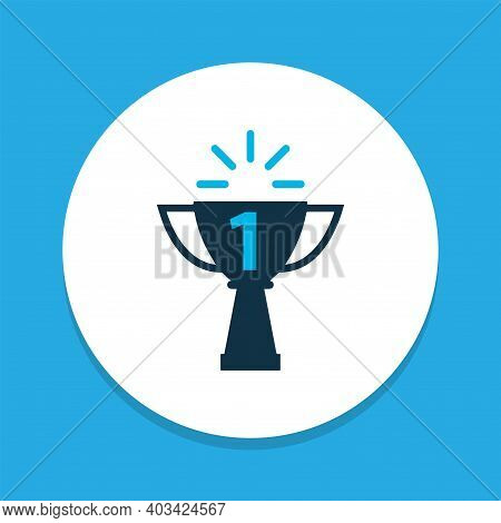 Success Icon Colored Symbol. Premium Quality Isolated Champion Element In Trendy Style.