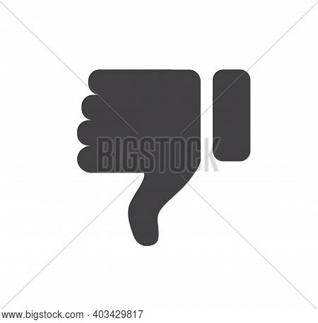 Hand Thumb Down Icon. Dislike Icon Isolated On White Background. Vector Illustration.