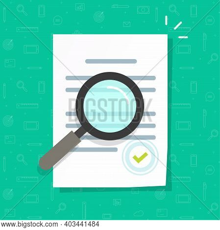 Business Legal Document Expertise Or Inspection Vector Icon Flat Cartoon, Concept Of Order Review, C