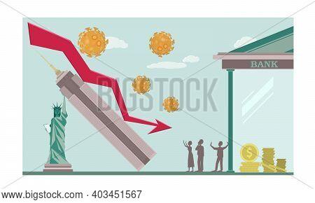World Financial Crisis, Oil Price Drop, Collapse Of The Economy. Coronavirus Impact On Global Econom