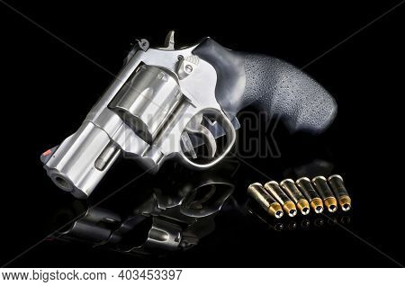 Modern Six Shooter That Is A 357 Magnum Revolver.