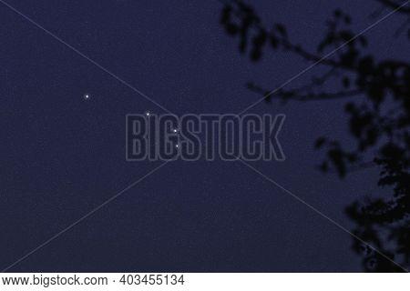 Aries Star Constellation, Night Sky, Cluster Of Stars, Deep Space, Ram Constellation