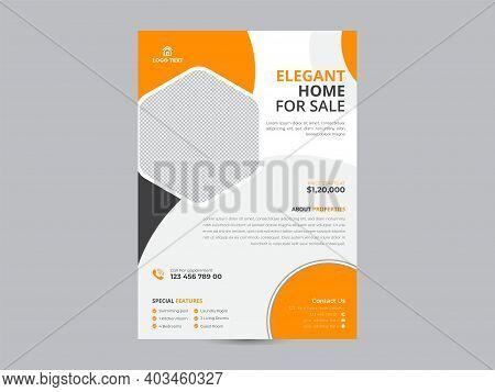 Real Estate Poster,  Leaflet Presentation, Corporate Business Report Cover, Brochure Or Flyer Design