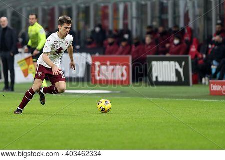 Milano, 12th January 2020. Jacopo Segre Of Torino Fc  During The Coppa Italia Match Between Ac Milan