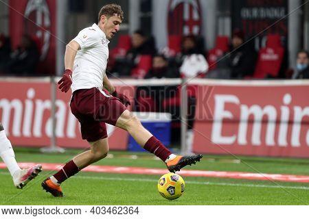 Milano, 12th January 2020. Mergim Vojvoda Of Torino Fc  During The Coppa Italia Match Between Ac Mil