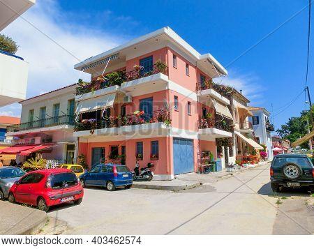 Katakolon, Greece - October 31, 2017: Shops In The Port Of Katakolon On The Greek Coast And Serves A