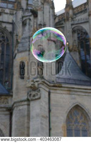 Soap Bubble In Kutna Hora