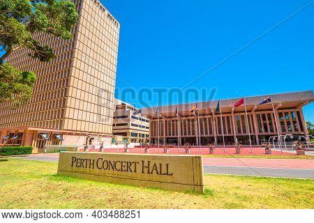 Perth, Western Australia - Jan 3, 2018: Perth Concert Hall, Main Venue Of West Australian Symphony O