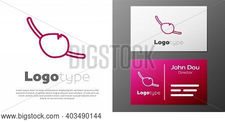 Logotype Line Pirate Eye Patch Icon Isolated On White Background. Pirate Accessory. Logo Design Temp