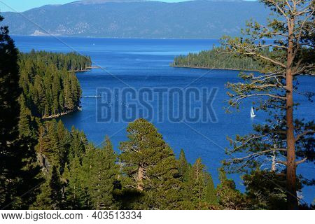Set In Tall Pines Overlooking Emerald Bay, Scenic Inspiration Point Towers 600 Feet Above Lake Tahoe