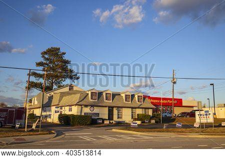 Augusta, Ga Usa - 01 02 21: Republican Gop Headquarters Front Entrance