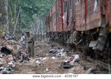 Policeman By Train
