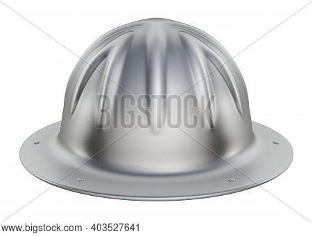 Skull Vintage Bucket Aluminum Hard Hat - 3d Illustration