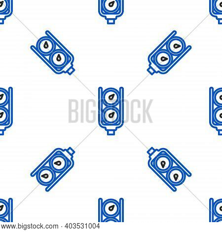 Line Gauge Scale Icon Isolated Seamless Pattern On White Background. Satisfaction, Temperature, Mano