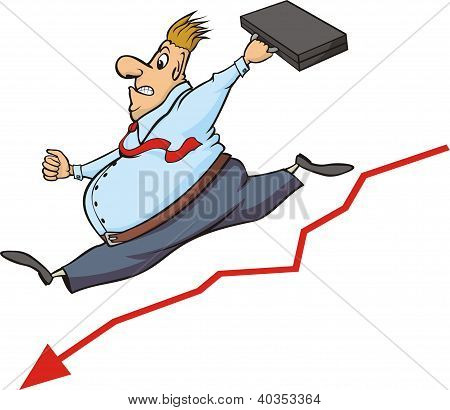 buisnessman and decline in the stock market