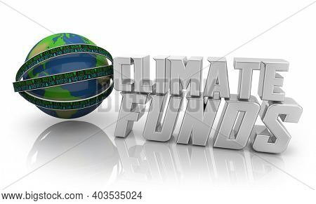 Climate Funds Environmental Resonsible Business Stock Market Ticker 3d Illustration