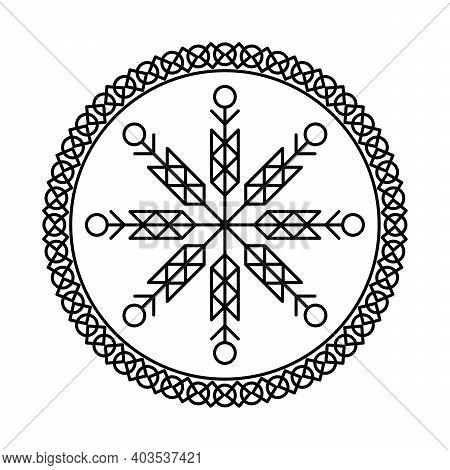 Magic Runic Symbols. Sacred Geometry, Mandala. Medieval Sign. Symbols Of The Esoteric Mandala. Occul