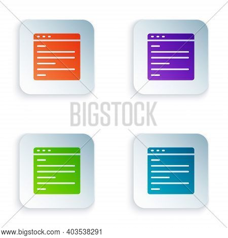 Color Computer Api Interface Icon Isolated On White Background. Application Programming Interface Ap