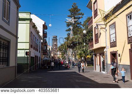 Pedestrian Street In San Cristobal De La Laguna (known As La Laguna), Its Historical Center Was Decl