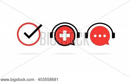 Online Swiss Course Banner. Learning Foreign Language. Online Education. Vector Eps 10. Isolated On