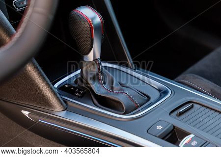 Gear Shift In A New Modern Car