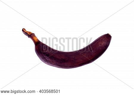 Rotten Brown Banana Isolated On White Background.