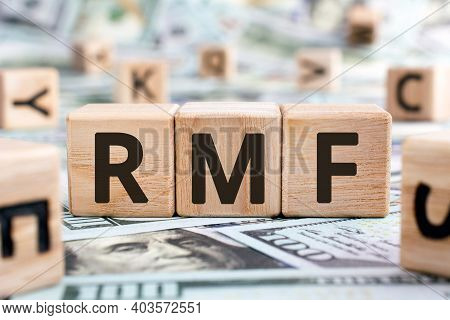 Rmf - Acronym From Wooden Blocks With Letters, Abbreviation Ltf Long-term Equity Mutual Fund And Rmf