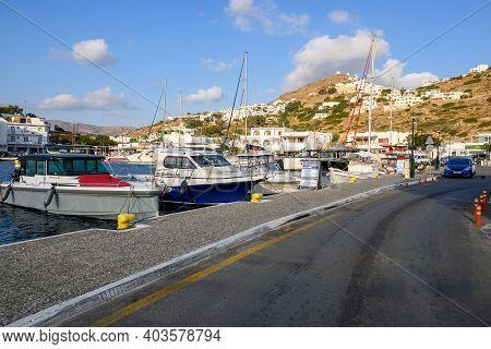 Ios, Greece - September 21, 2020: Chora Port On The Island Of Ios Cyclades Islands, Greece