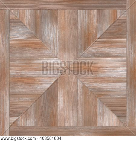 Lacquered Merbau Parquet, Textured Wood Laminate Background, Parquet Floor. 3d-rendering