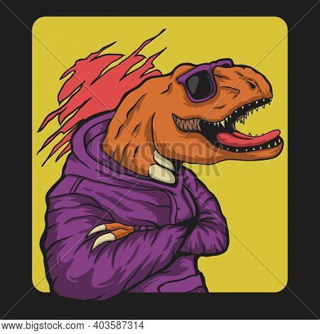 T Rex Urban Street Vector Illustration For Your Company Or Brand