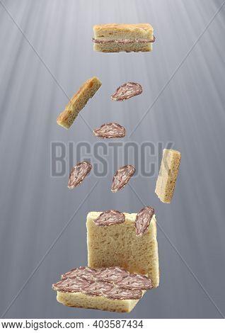 Genoese Focaccia Stuffed With Salami Genoese Focaccia Stuffed With Salami