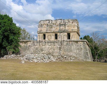The Red House (chichanchob) In Chichen Itza, Yucatan Provence, Mexico.
