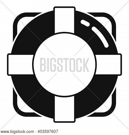 Guard Lifebouy Icon. Simple Illustration Of Guard Lifebouy Vector Icon For Web Design Isolated On Wh