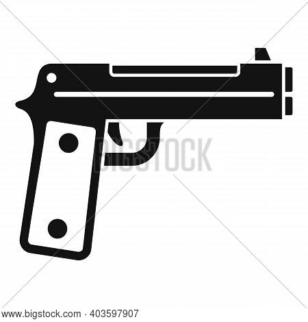 Guard Pistol Icon. Simple Illustration Of Guard Pistol Vector Icon For Web Design Isolated On White
