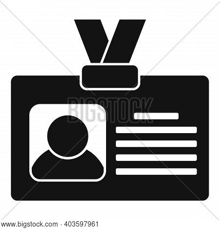 Guard Id Card Icon. Simple Illustration Of Guard Id Card Vector Icon For Web Design Isolated On Whit