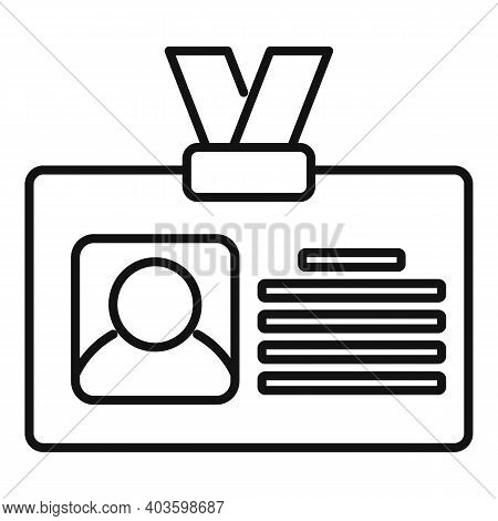 Guard Id Card Icon. Outline Guard Id Card Vector Icon For Web Design Isolated On White Background