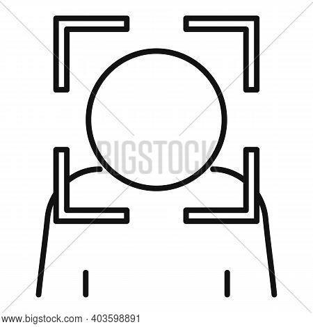 Security Face Detection Icon. Outline Security Face Detection Vector Icon For Web Design Isolated On
