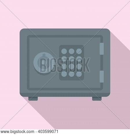 Policeman Safe Icon. Flat Illustration Of Policeman Safe Vector Icon For Web Design