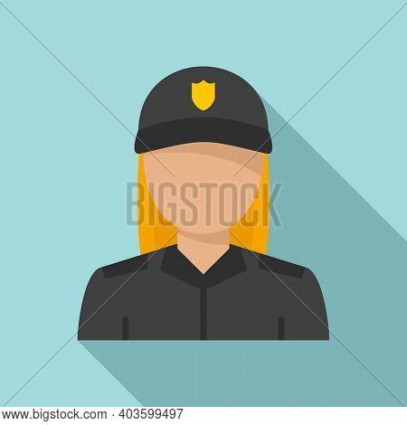 Blondie Policeman Icon. Flat Illustration Of Blondie Policeman Vector Icon For Web Design