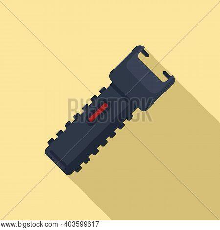 Policeman Electroshocker Icon. Flat Illustration Of Policeman Electroshocker Vector Icon For Web Des