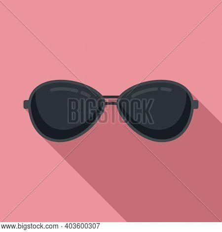 Policeman Sunglasses Icon. Flat Illustration Of Policeman Sunglasses Vector Icon For Web Design