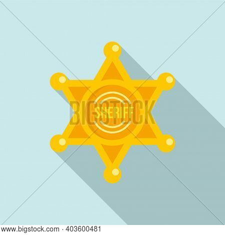 Sheriff Star Icon. Flat Illustration Of Sheriff Star Vector Icon For Web Design