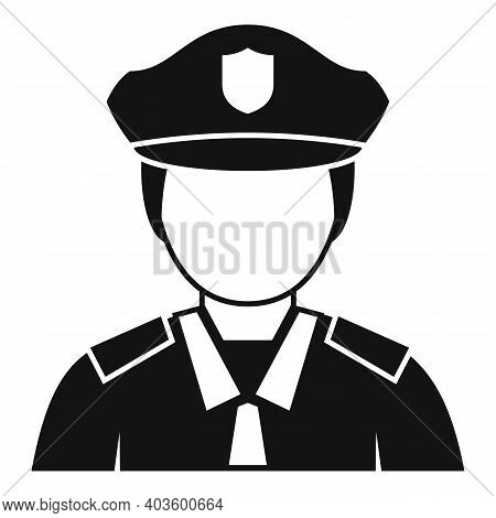 City Policeman Icon. Simple Illustration Of City Policeman Vector Icon For Web Design Isolated On Wh