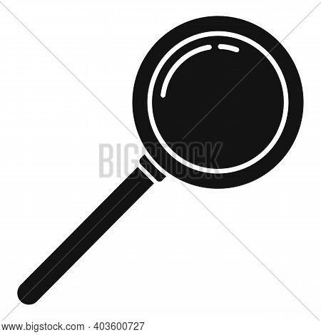 Policeman Magnifier Icon. Simple Illustration Of Policeman Magnifier Vector Icon For Web Design Isol
